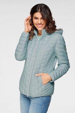 barbara lebek gewatteerde jas met ritszakken blauw