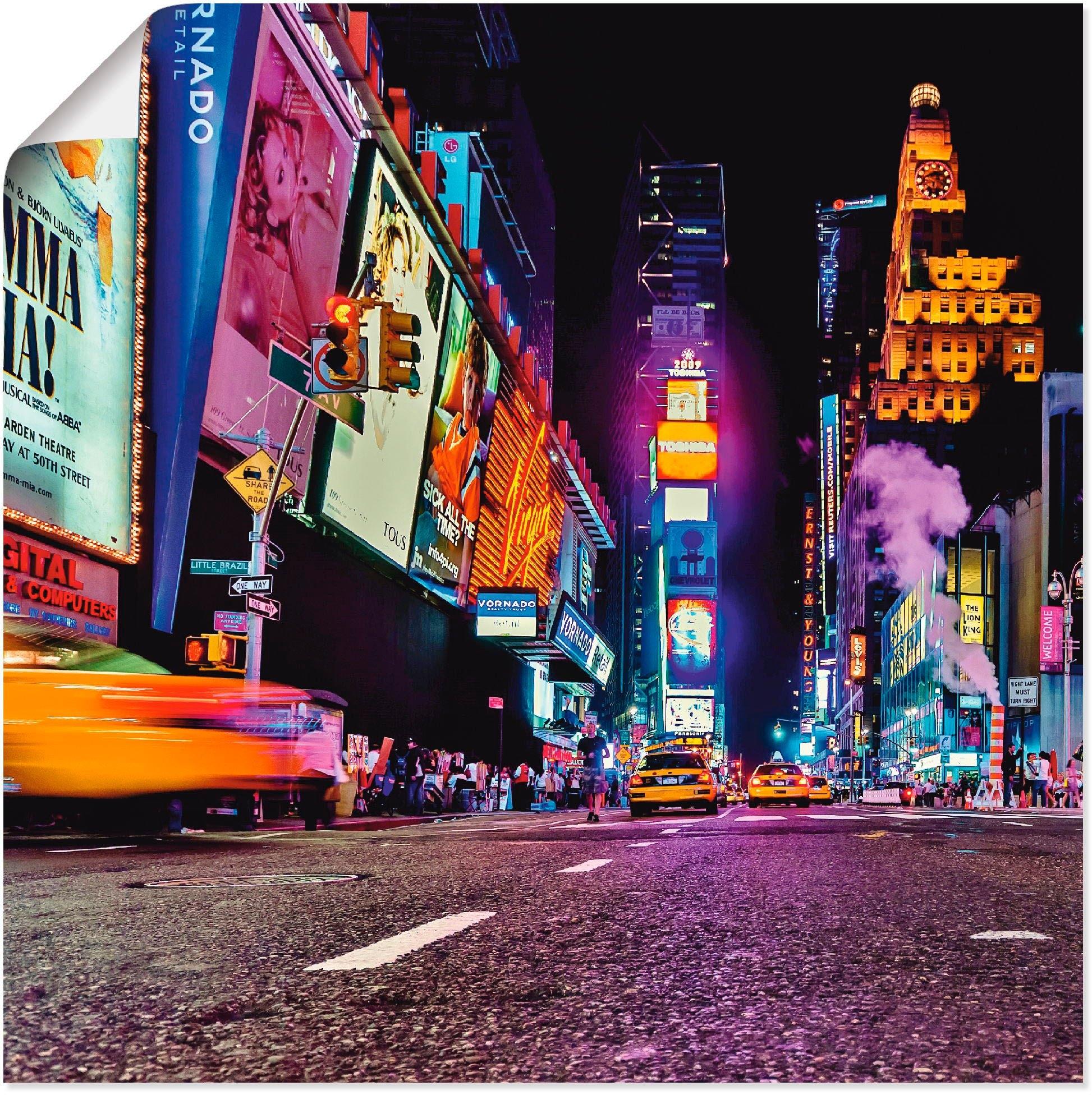 Op zoek naar een Artland artprint New York nachtleven in vele afmetingen & productsoorten -artprint op linnen, poster, muursticker / wandfolie ook geschikt voor de badkamer (1 stuk)? Koop online bij OTTO
