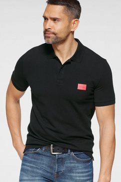 calvin klein poloshirt »stretch pique badge slim polo« zwart