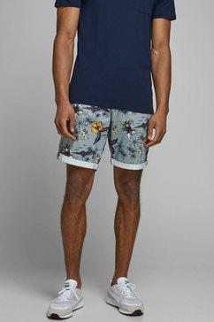 jack  jones chino-short »bowie shorts print« blauw