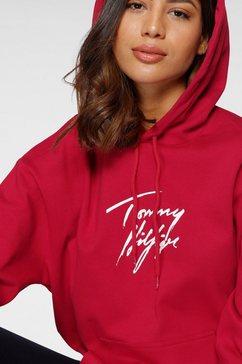 tommy hilfiger hoodie rood