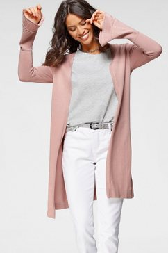 laura scott lang vest met trompetmouwen roze