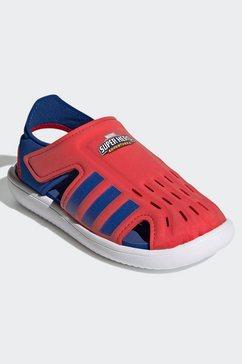 adidas performance sandaaltjes water rood