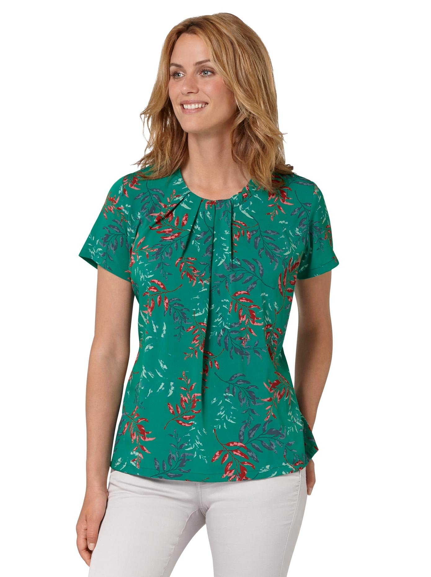 Ambria Gedessineerde blouse bestellen: 30 dagen bedenktijd