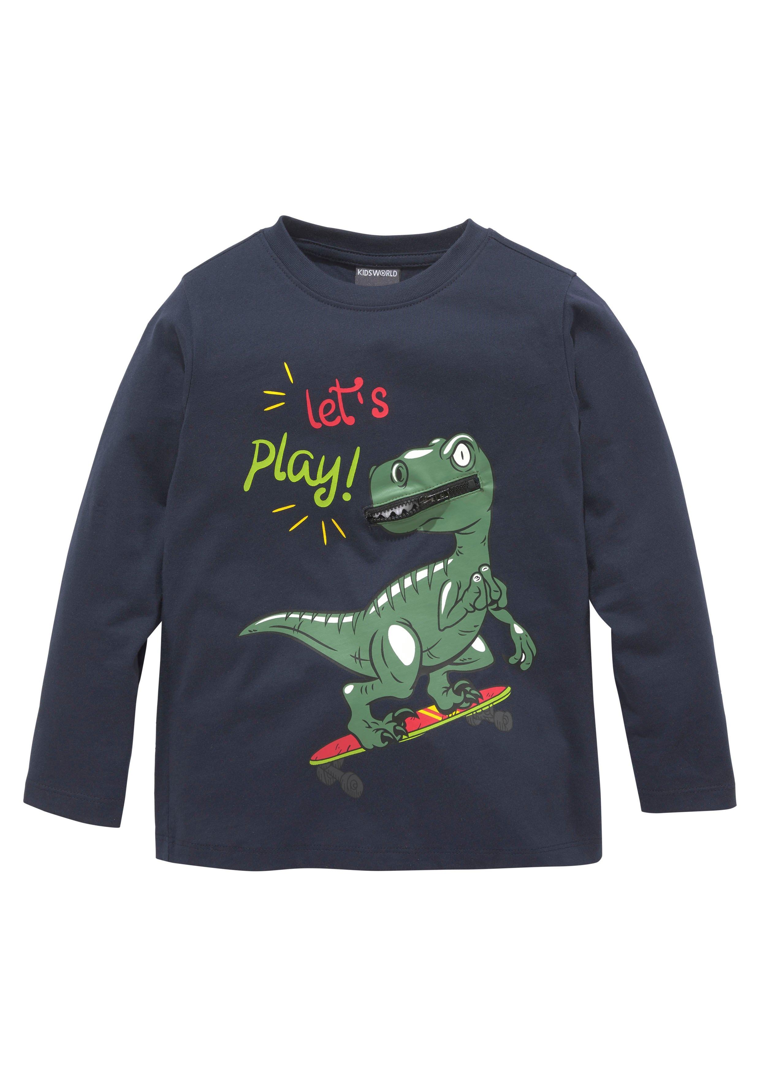 KIDSWORLD shirt met lange mouwen »Dino mit Dekozipper« voordelig en veilig online kopen