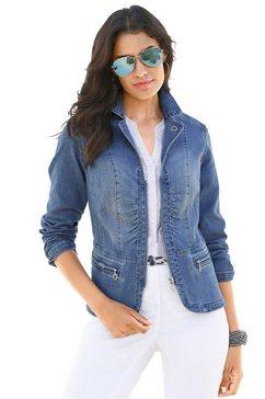 lady jeansblazer blauw