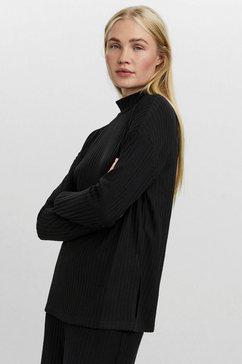 vero moda trui met staande kraag vmblossom ls funnelneck blouse zwart