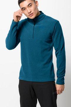 jack wolfskin trui met staande kraag »arco men« blauw