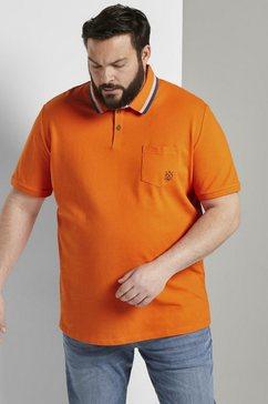 tom tailor men plus poloshirt »poloshirt mit brusttasche« oranje
