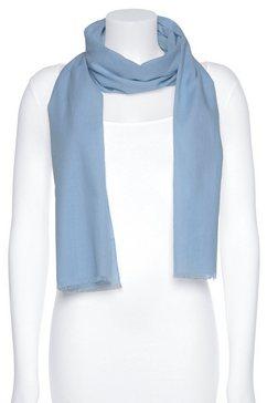 j.jayz modieuze sjaal eenvoudige basic sjaal met franje blauw