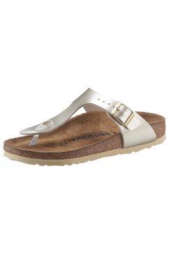 birkenstock teenslippers gizeh inspired electric metallic in schoenwijdte: smal goud