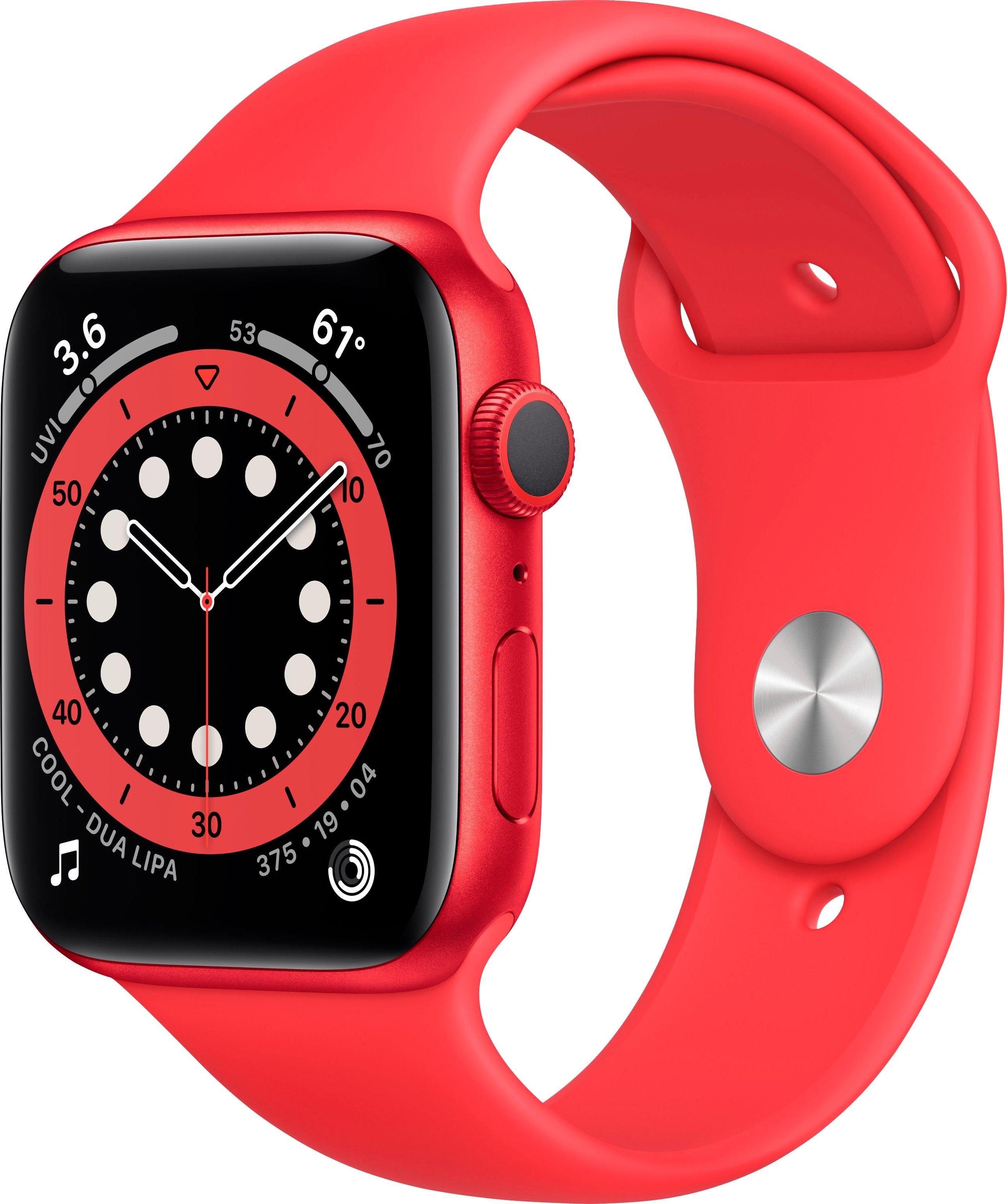 Apple watch Series 6 gps, aluminium kast met sport 40 mm inclusief oplaadstation (magnetische oplaadkabel) nu online bestellen