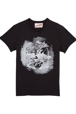 andreas gabalier collectie folklore-herenshirt met printmotief zwart