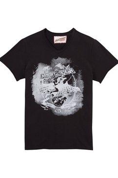 andreas gabalier kollektion folkloreshirt heren met cool printmotief zwart