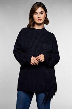 sheego trui met staande kraag blauw