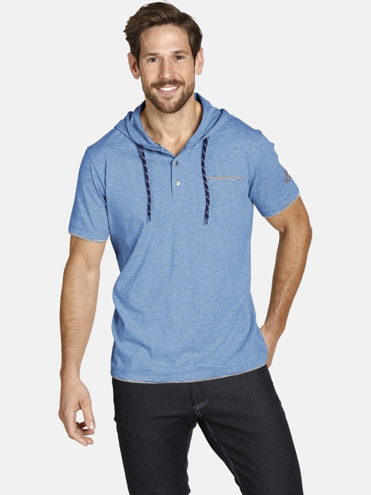 Jan Vanderstorm capuchonshirt OFFE casual hoodie met korte mouwen - verschillende betaalmethodes