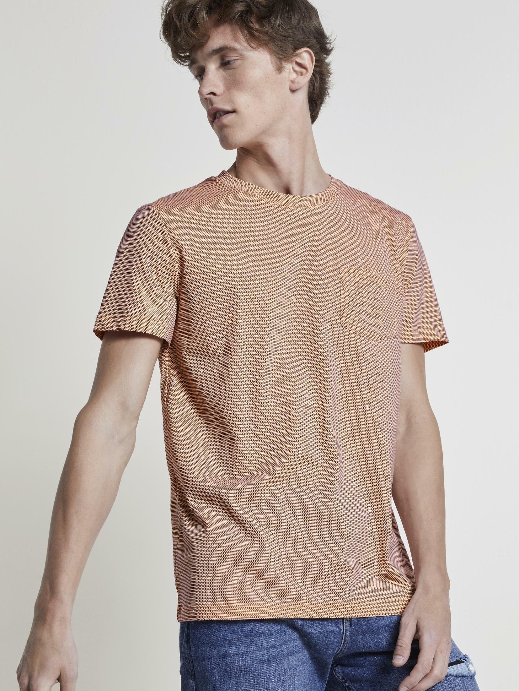 Tom Tailor Denim T-shirt »T-Shirt mit Allover-Print« bij OTTO online kopen