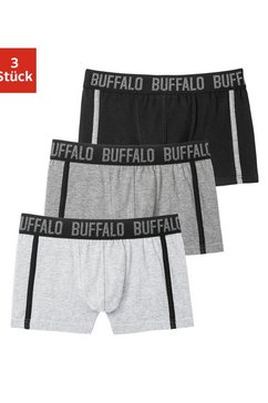 buffalo boxershort met paspel opzij (3 stuks) grijs