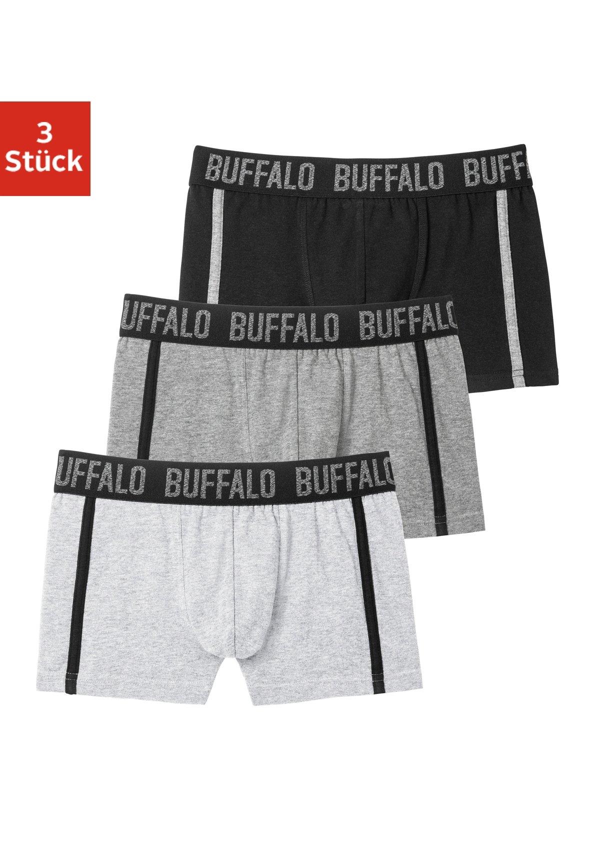 Buffalo boxershort met paspel opzij (3 stuks) bij OTTO online kopen