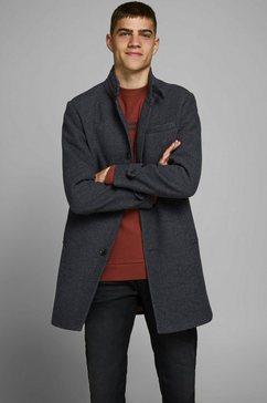 jack  jones wollen jas blamelton wool coat grijs