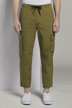 tom tailor denim cargobroek »cargo jogginghose« groen
