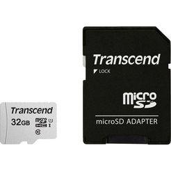 transcend »microsdxc-sdhc 300s mit adapter« geheugenkaart grijs