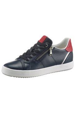 geox sneakers met ritssluiting opzij blauw