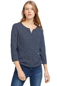 tom tailor henleyshirt met knoopsluiting voor blauw
