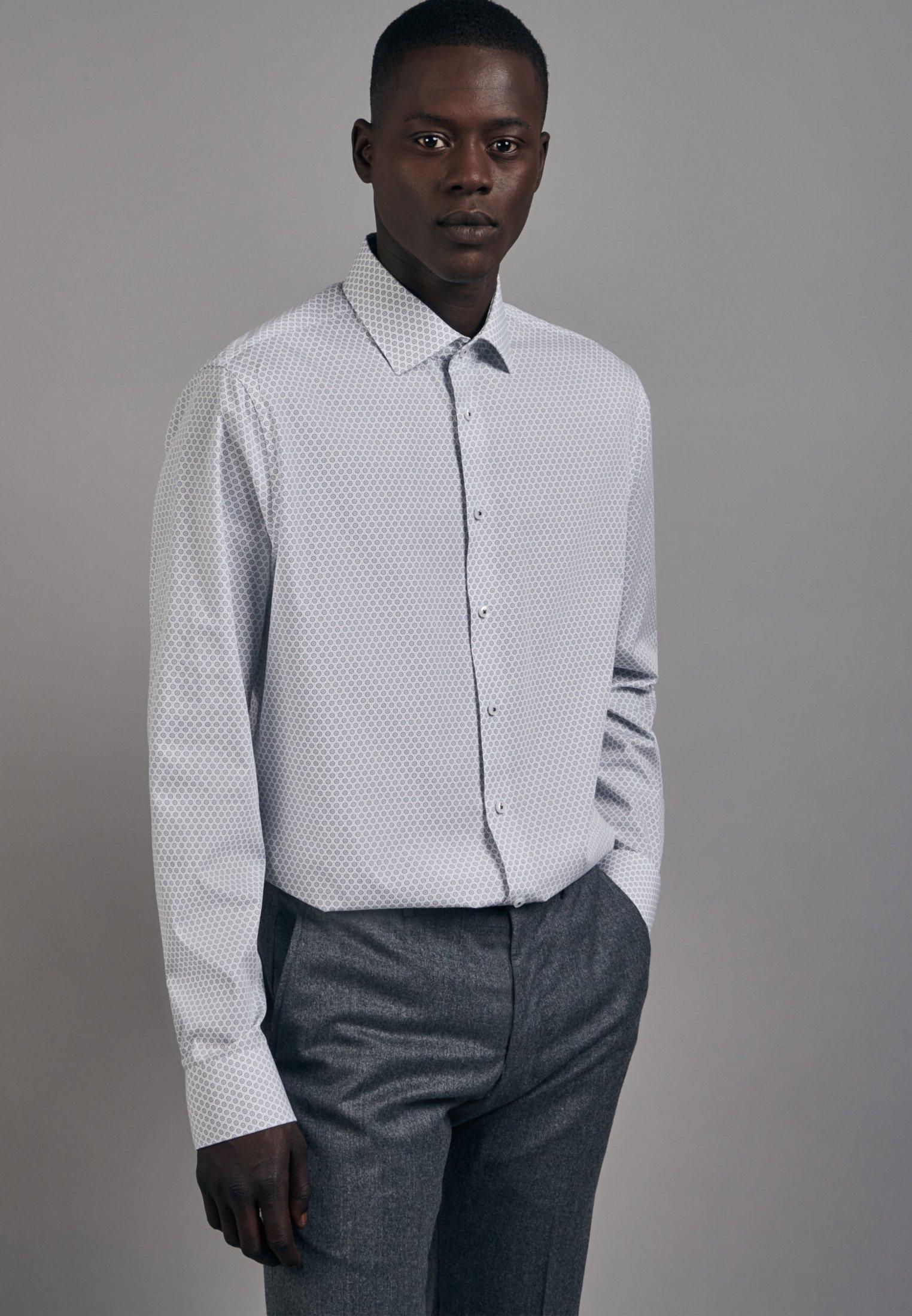 seidensticker businessoverhemd Shaped Shaped lange mouwen kentkraag print in de webshop van OTTO kopen