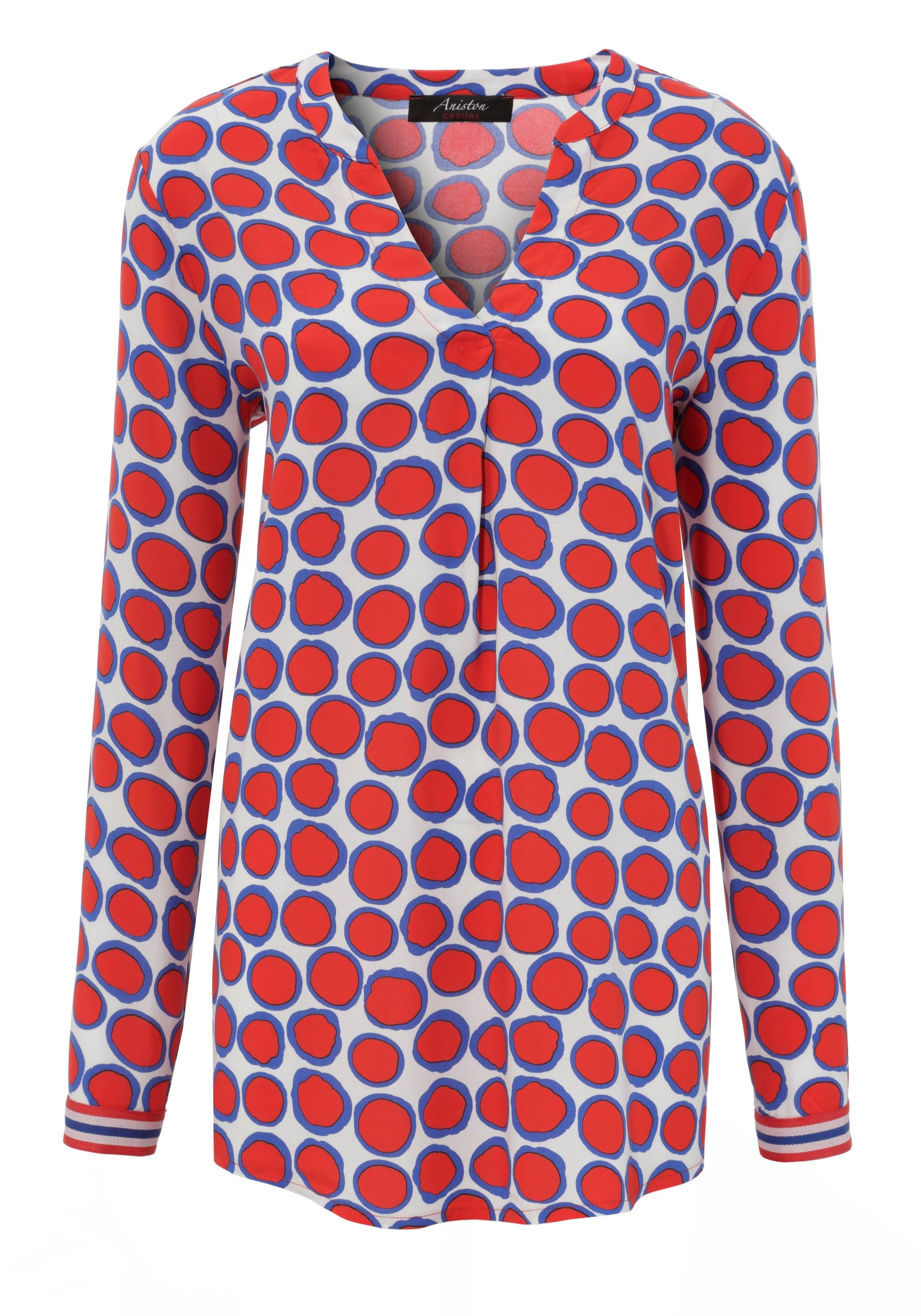 Aniston CASUAL blouse zonder sluiting met opvallende stippen gedessineerd - gratis ruilen op otto.nl