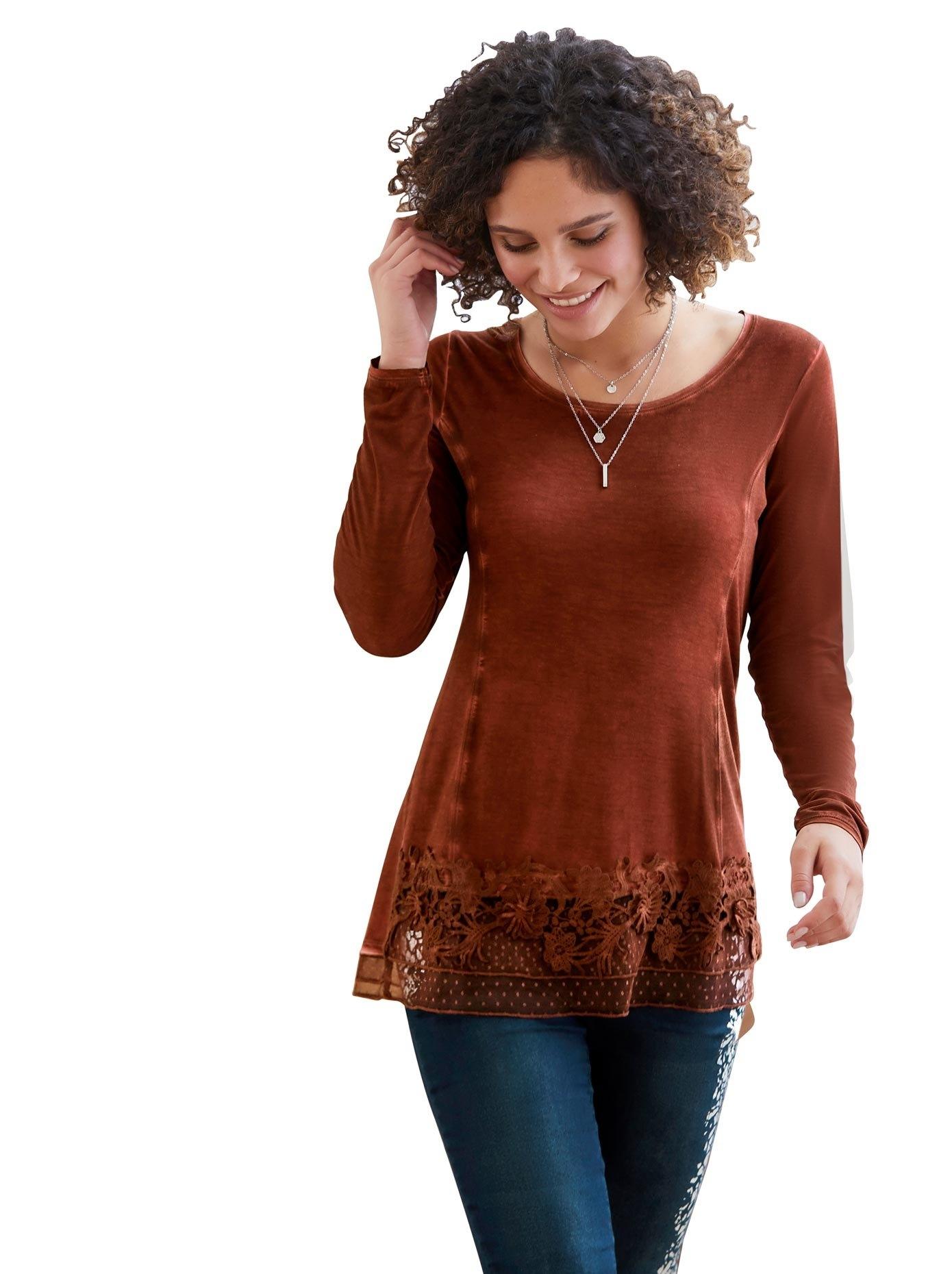 LINEA TESINI by Heine shirt met ronde hals nu online bestellen