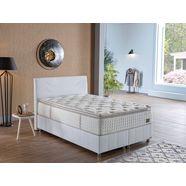 i̇sti̇kbal bonell-binnenveringsmatras new iq comfort intelligent gecombineerde, dubbele binnenvering met stevig dichtgenaaid comfortschuimtopmatras hoogte 35 cm wit