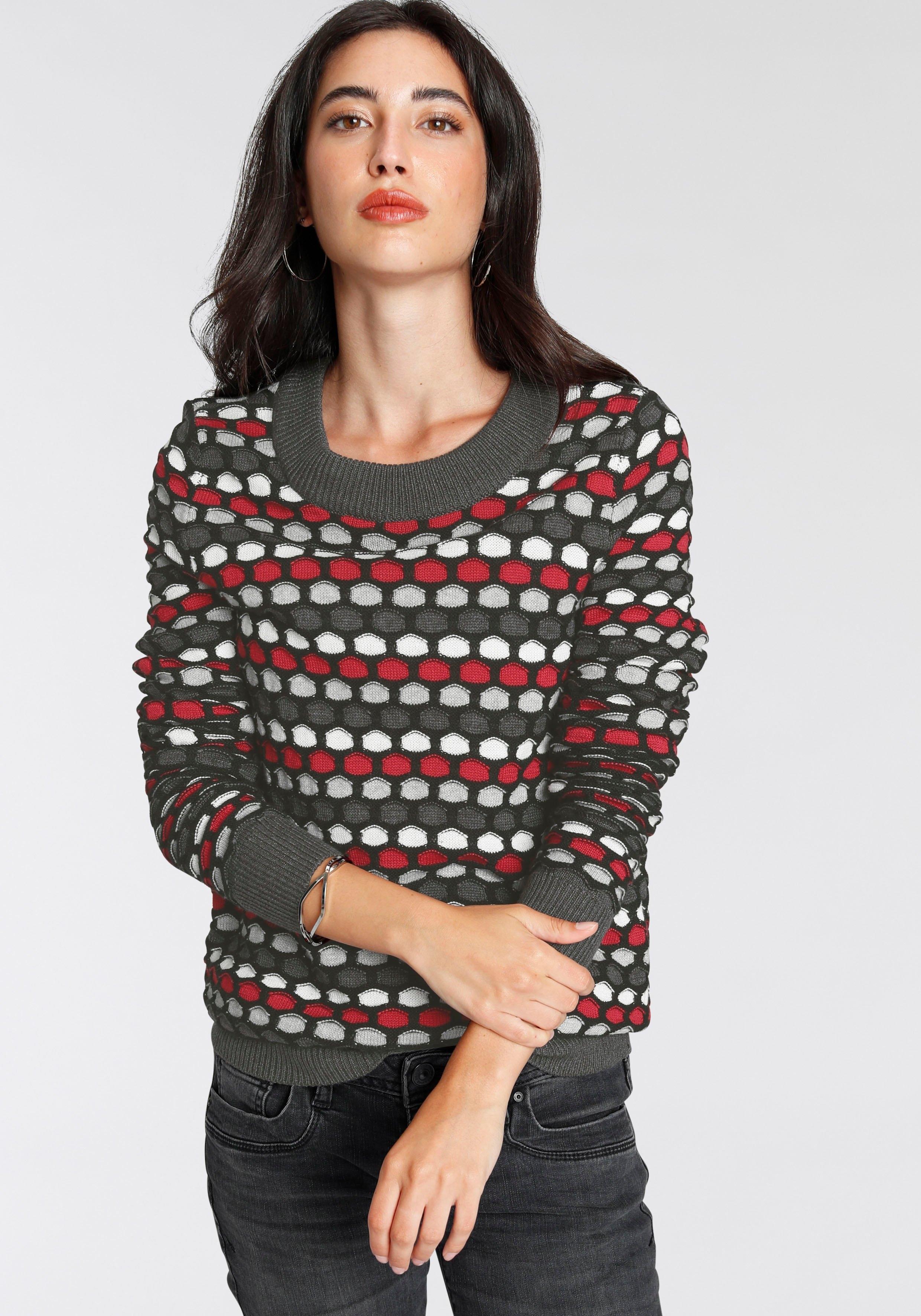 AJC Gebreide trui bijzonder stipdesign bij OTTO online kopen