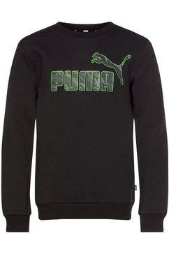 puma sweatshirt graphic crew fleece zwart