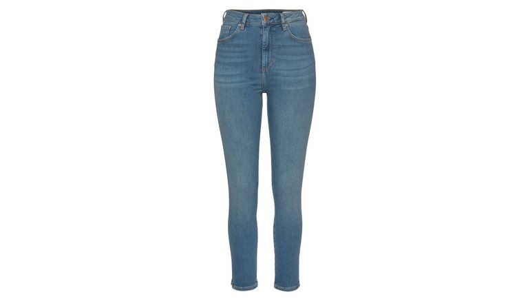 s.Oliver high-waist jeans super-skinny, ankle en met zijsplitjes in de pijp