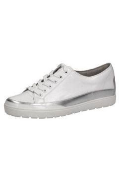 caprice sneakers met metallicdetails wit