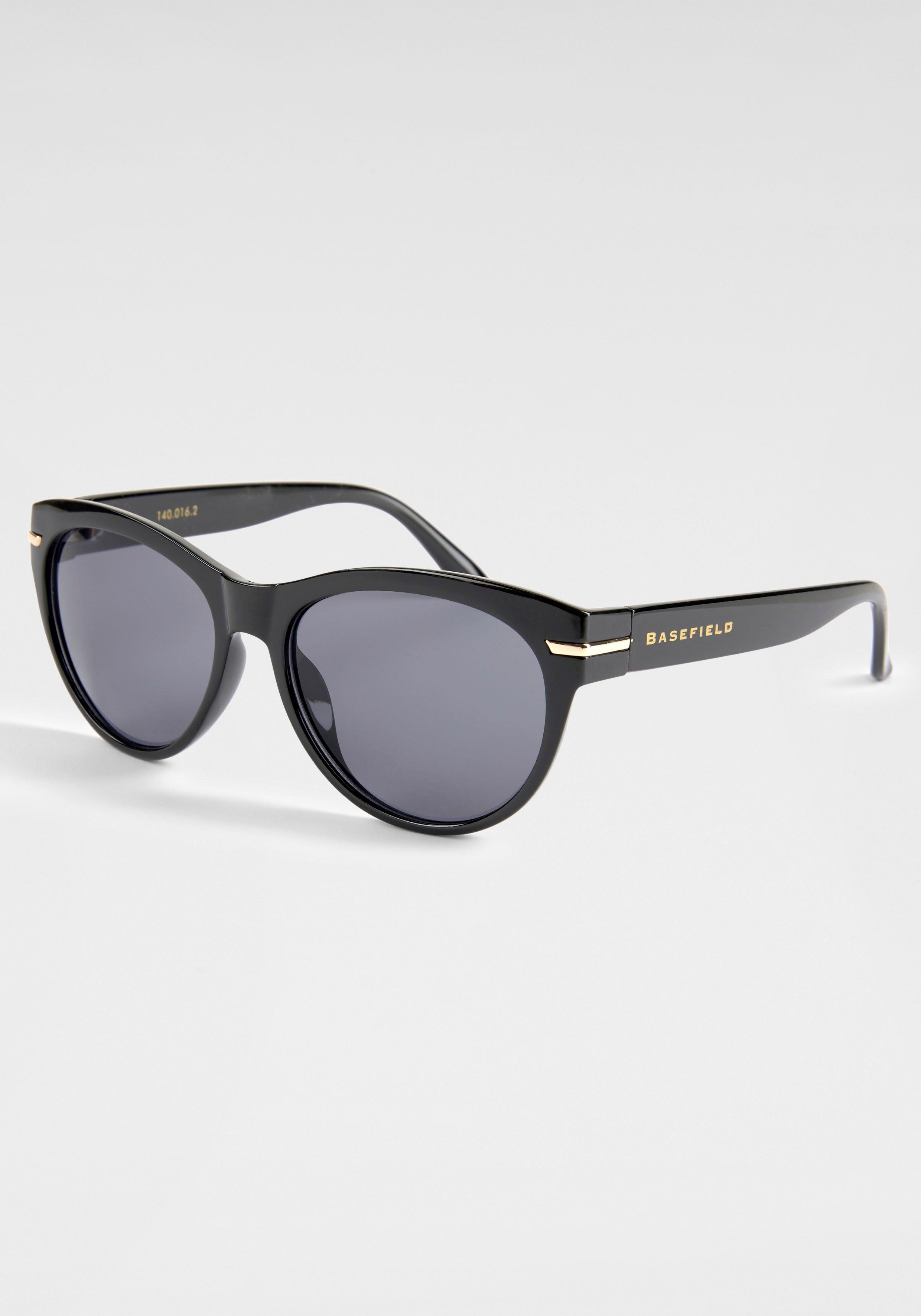 BASEFIELD zonnebril met logo-opschrift op de beugel - verschillende betaalmethodes
