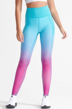 superdry sport runningtights running sprint legging blauw