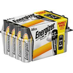 energizer batterij alkaline power aa-batterijen 24x box (set, 24 stuks) zilver