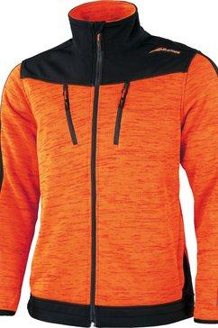 albatros fleecejack »cowper« oranje