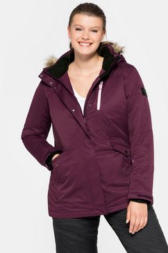 sheego ski-jack met warme wattering paars