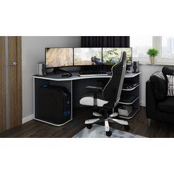 """homexperts gamingtafel tron geschikt voor drie 28""""-monitoren grijs"""