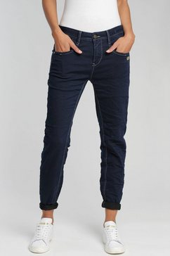 gang relax fit jeans amelie met dubbele rechter achterzak blauw