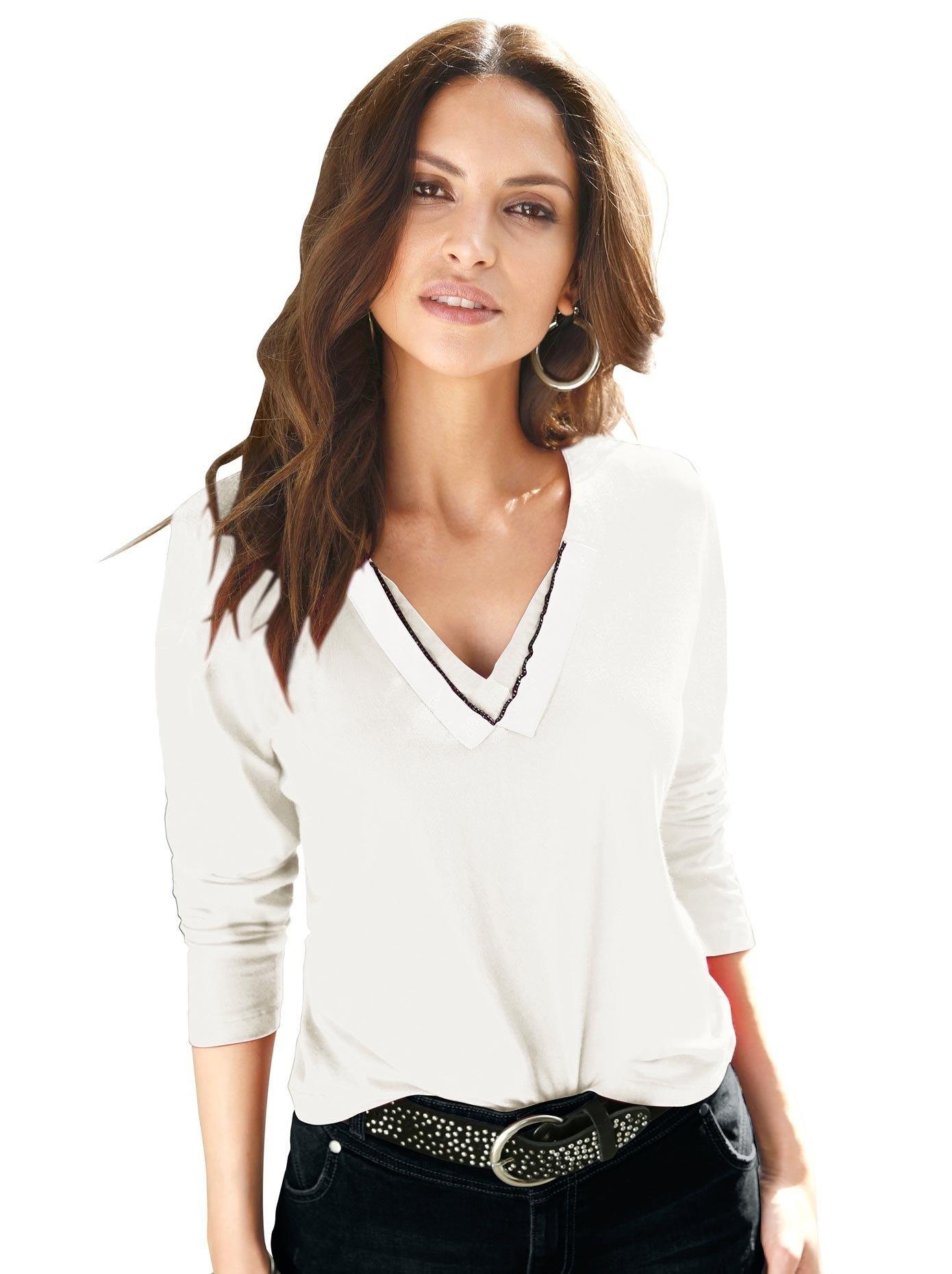 Alessa W. shirt met V-hals voordelig en veilig online kopen