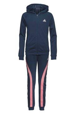 adidas performance trainingspak »bold hooded« blauw