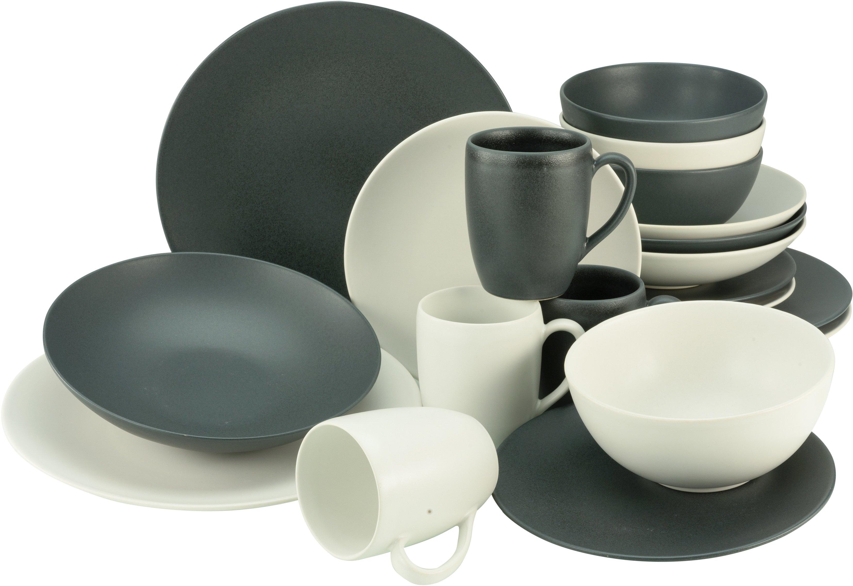 Op zoek naar een CreaTable combi-servies Soft Touch Black & White halfglans glazuur (set, 20 delig)? Koop online bij OTTO