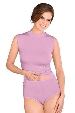 rosalie shirt met staande kraag paars