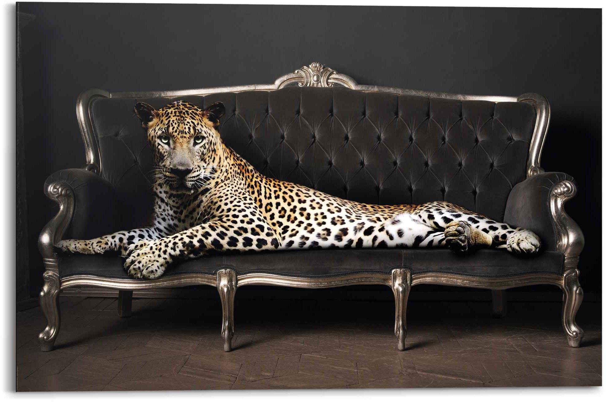 Reinders! Artprint luipaard chic panter - liggend - luxe - relax (1 stuk) bij OTTO online kopen