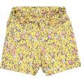 garcia short met zomers bloemmotief (set, 2-delig, met bindstrik) geel