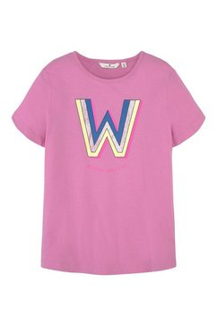 tom tailor t-shirt »t-shirt mit print« roze